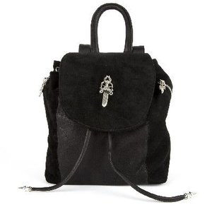 CHROME HEARTS SMALL IGGY FLAP TOP SUEDE BACKPACK DAGGER クロムハーツ スモール IGGY ダガー スウェード  バックパック