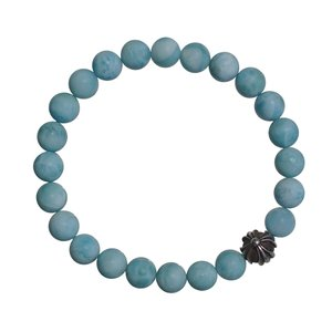 CHROME HEARTS 8MM TURQUOISE BEADS & 1 SILVER B...