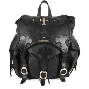 CHROME HEARTS LEATHER LARGE BACKPACK CH CROSS クロムハーツ レザー バックパック ラージ CHクロス