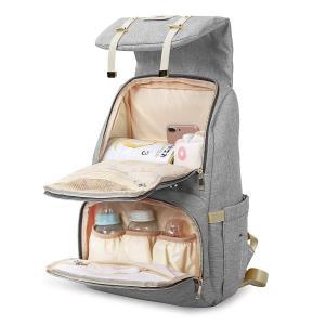 YONiMO マザーズバッグ リュック 大容量 お洒落 多機能 ママバッグ ベビー用品収納 おむつ替えシート付き ベビーカー用ベルト付き トートバッグ 出産お祝い|skyunet