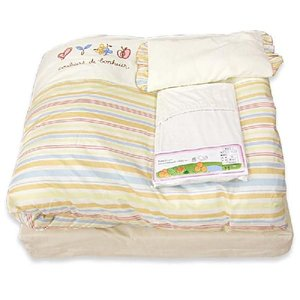 お買得即納最安値に挑戦  デュエットタイプベビー組布団7点セット(マルチボーダー)洗えるカバー付き組みふとんセット|sleeping-yshop