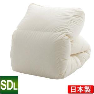 羽毛布団 2枚合わせ エクセルゴールドラベル セミダブルロング 170×210cm ホワイトダックダウン90% ハンガリー産|sleeping-yshop