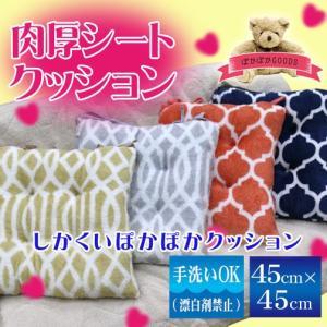 アルファ Loving Home 肉厚シートクッション 角型 45×45cm ぽかぽかGOODSシリーズ|sleeping-yshop