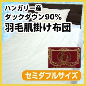 N 羽毛布団(夏用)羽毛肌掛け布団(ハンガリー産ホワイトダックダウン90%)セミダブルロング|sleeping-yshop