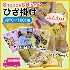 キャラクターひざ掛け毛布 約70×100 ニーケットプーさん・スヌーピー・アナと雪の女王|sleeping-yshop