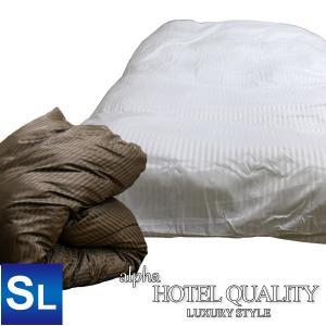 アルファ ホテルクオリティ 掛けふとんカバー (HQ-K150) SL シングルロングサイズ 150×210cm 光沢感 上品 |sleeping-yshop