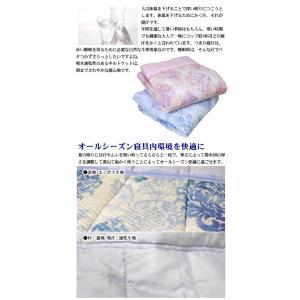 京都西川 キルトケット (4G1806-RG) S シングルサイズ 140×190cm 表地 リップル 裏地 吸水速乾二重ガーゼ (ポリエステル混)  選べる2色|sleeping-yshop|02