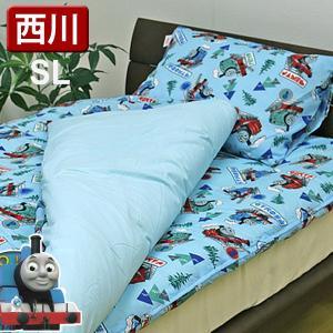布団セット 西川産業 送料無料 シングルロング トーマス 組布団6点セット 掛け 敷き 枕 カバー シーツの6点組 TH7057 掛け布団 掛布団 新生活|sleeping-yshop