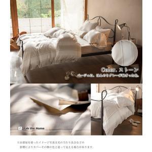 Fab the Home シックストライプ 掛け布団カバー シングルサイズ (綿100% ワッフル織 グレージュ系) 北欧 上品|sleepmaster|03
