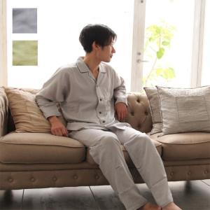 国産 ダブルガーゼ  パジャマ ねむりのプロ推薦 メンズM L 和晒しの優しい肌触り 寝返りしやすい ガーゼ  日本製 綿100% sleepmaster