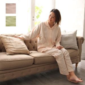 国産 ダブルガーゼ  パジャマ ねむりのプロ推薦 レディース M L 和晒しの優しい肌触り 寝返りしやすい ガーゼ  日本製 綿100% 婦人用 sleepmaster
