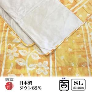 【商品詳細】 東京西川の洗える羽毛肌掛けふとんです。襟と体に当たる裏生地はベロアのようななめらかな肌...