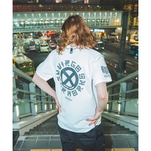 BOUNTY HUNTER×VIRGO CHIN CIRCLE LOGO TEE(ホワイト)|slow-clothing