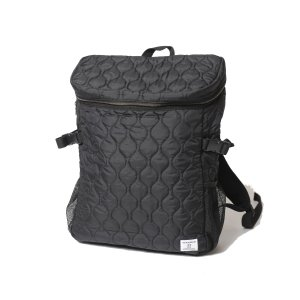 VIRGO Military quilting square backpack(ブラック)|slow-clothing