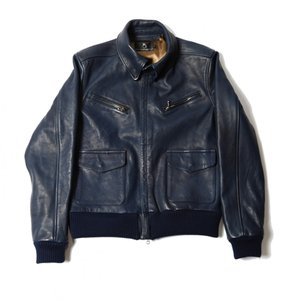 VIRGO VGW FORCE SPECIAL LETHER JKT (ネイビー)|slow-clothing