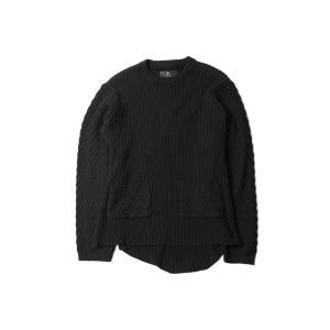 VIRGO  SIDE WIND ARMORS KNIT (ブラック)|slow-clothing