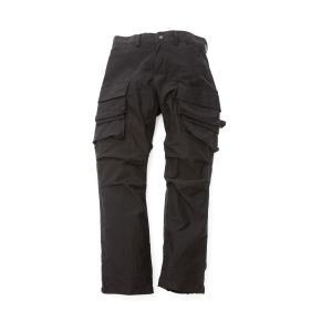 VIRGO W-WING18 ダブルポケットカーゴ (ブラック)|slow-clothing
