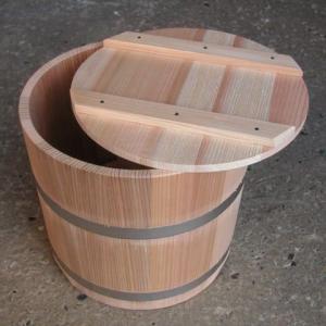 杉製 漬物樽(ステンレスタガ)9リットル 0243-0901 slow-dougu-net