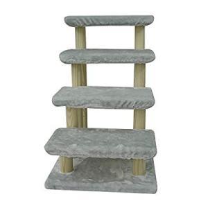 純木 猫 ステップ 猫用 階段 犬用階段 ドッグステップ ソファ 階段 犬 ステップ 猫の階段 スロープ 犬 階段 ペット階段 4段ペットはしご猫犬簡|slow-lifes