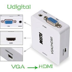 Udigital アナログ(コンポジット)→HDMI専用小型コンバーター 720P/1080P対応 電源アダプタ付 slow-lifes