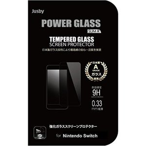POWER GLASS 強化ガラス保護フィルム 0.33mm jusby (Nintendo Switch)|slow-lifes