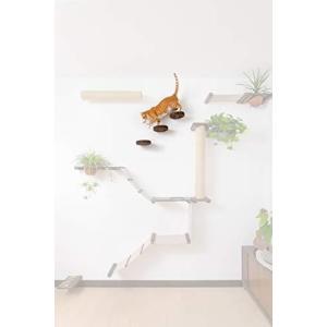 20CM の丸い木製壁付け飾り棚または猫のプラットフォーム | 壁付け式猫用とまり木 | キャットツリーの遊び場を?|slow-lifes
