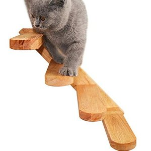 Umoraキャットタワー 梯子 木製 階段 遊び場 ストレス解消 運動不足解消 組み立て簡単(右)|slow-lifes