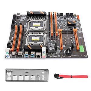 X99デュアル CPU マザーボード ギガビットネットワークカード LGA2011 メインボード LGA2011-V3 DDR4 2666 × 8/ PCI-E x16 × 2|slow-lifes