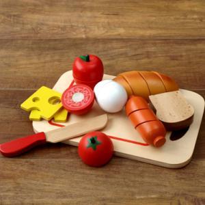 ままごとセット 食材 おもちゃ 木製 ブレックファースト 野...