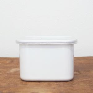 野田琺瑯 ホワイトシリーズ 保存容器 スクエア M ホーロー キャニスター 日本製 キッチン|slowworks