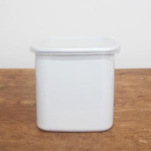 野田琺瑯 ホワイトシリーズ 保存容器 スクエア L ホーロー キャニスター 日本製 キッチン|slowworks