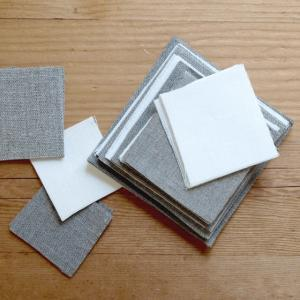 サイズ:10×10cm〜5×5cm程度 角のハギレ 65枚程度 素材:linen100% リトアニア...