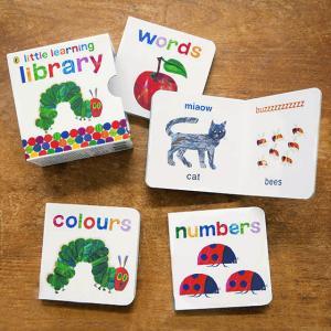 はらぺこあおむしが、4冊のミニ絵本になりました。 『words(言葉)』『colours(色)』『a...