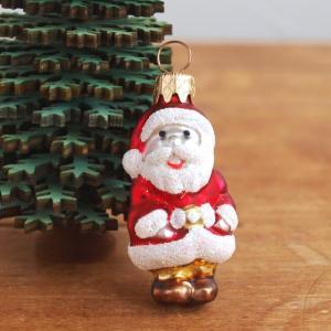 クリスマス オーナメント ポーランド製 グラスオーナメント サンタ