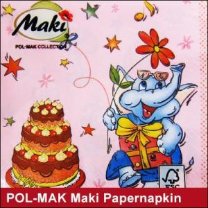 ペーパーナプキン POL-MAK Maki ぞう/ ポーランド製(ネコポス対応)