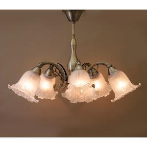 クラシカルシーリングランプ[ロクサーヌ]【5灯】LED電球対応アンティークブロンズ (DL16677-5C AB)|smafy