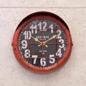 壁掛時計 アンティーククロック[サブマリン2]RED(BLKR1758-2)|smafy