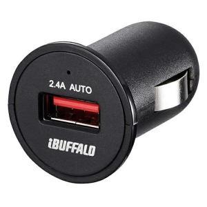 BUFFALO [BSMPS2401P1BK] DCチャージャー 2.4A 1ポート ブラック smafy