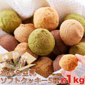(賞味期限8/15) 豆乳おからクッキー5種類 1kg ほろっと柔らか ヘルシー&DIET応援 新感覚満腹 満腹&満足実感 人気のヘルシーおやつ smafy