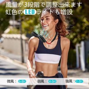 扇風機 usb 首かけ扇風機 ポータブル扇風機...の詳細画像3