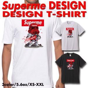 ストリート大人気ブランドTシャツ ボックスロゴ Superman デザイン パロディ Supreme...