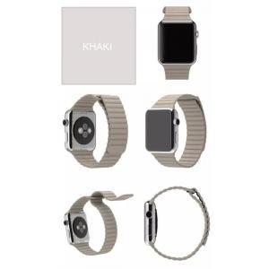 Apple Watch バンド レザーループ ...の詳細画像1