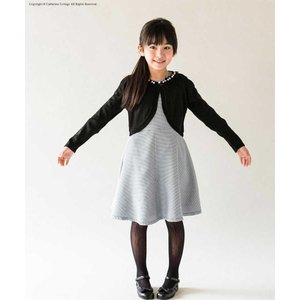 CatherineCottage 【入園入学新商品】衿ぐりパール&チュールボレロ BLK 女の子 1...