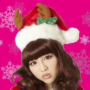サンタ コスプレ クリスマス リボントナカイサンタ帽 パーティー イベント ホビー コスプレ・変装・仮装 レディース|smart-factory