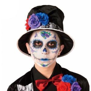 ハロウィン コスプレ シュガースカル フェイスシール グルーム ラベラ ガイコツ メキシカンスカル メキシコ 髑髏 ドクロ メイク 化粧の画像