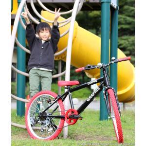 子供用自転車 週末価格 20インチ シマノ6段ギア 全10色 クロスバイク スキュワー式 GRAPHIS|smart-factory|07