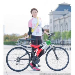 送料無料 マウンテンバイク 26インチ シマノ シマノ製18段ギア GRAPHIS グラフィス GR-005 (6色)  自転車 26インチ メンズ レディース 自転車 おしゃれ|smart-factory|13