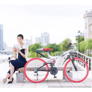 送料無料 マウンテンバイク 26インチ シマノ シマノ製18段ギア GRAPHIS グラフィス GR-005 (6色)  自転車 26インチ メンズ レディース 自転車 おしゃれ|smart-factory|21