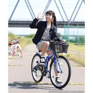 子供用自転車 平日限定 1500円クーポン 22 24 26インチ 6段ギア ライト 鍵 カゴ CIデッキ付 CTB 折りたたみ自転車|smart-factory|13