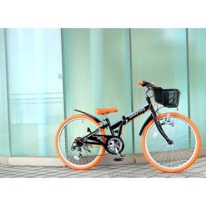 子供用自転車 平日限定 1500円クーポン 22 24 26インチ 6段ギア ライト 鍵 カゴ CIデッキ付 CTB 折りたたみ自転車|smart-factory|15